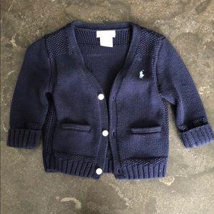Ralph Lauren Navy Blue Cardigan- 9 Months